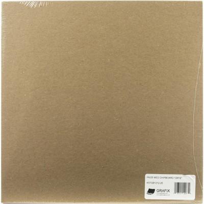 """Grafix Medium Weight Chipboard Sheets 12""""X12"""" 25/Pkg-Natural"""