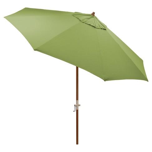 sunbrella 9 round patio umbrella medium faux wood pole smith hawken - Sunbrella Patio Umbrellas