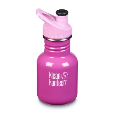 Klean Kanteen 12oz Stainless Steel Kids' Classic Water Bottle with Sports Cap