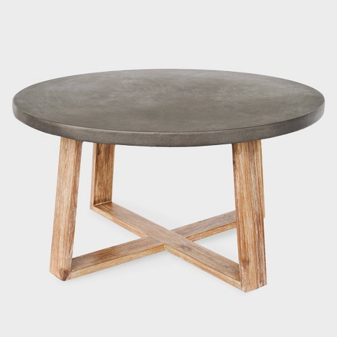Athens Cement Coffee Table Gray - Leisure Made - image 1 of 4