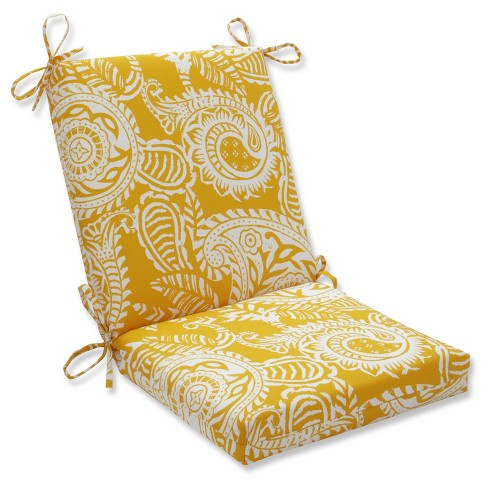 Outdoor Indoor Addie Egg Yolk Squared Corners Chair Cushion Pillow Perfect