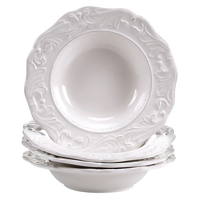Certified International Firenze Ivory Soup Bowl 40oz Set of 4
