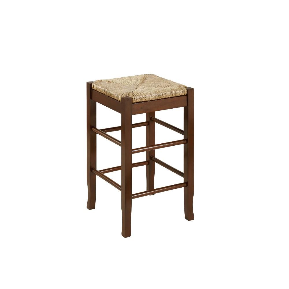 24 Rush Seat Hardwood Counter Height Barstool Cappuccino - Boraam Best