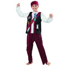 Northlight Red and Black Pirate Halloween Party Costume - Small