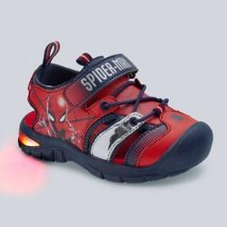 Toddler Boys' Marvel Spider-Man Light-Up Hiking Sandals - Red