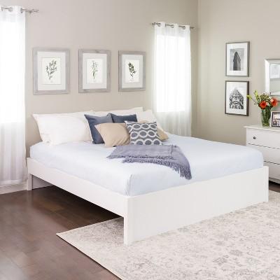 King Select 4 - Post Platform Bed White - Prepac