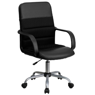 Mid Back Task Chair Black - Riverstone Furniture Collection