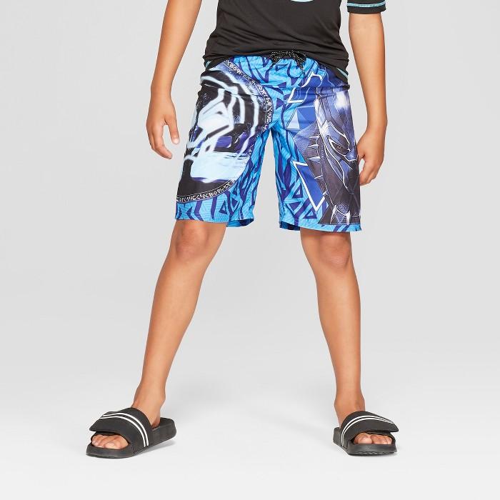 Boys' Black Panther Swim Trunks - image 1 of 3