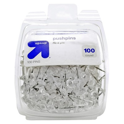 100ct Push Pins Clear - up & up™