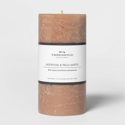 Pillar Ashwood and Palo Santo Candle Tan - Threshold™