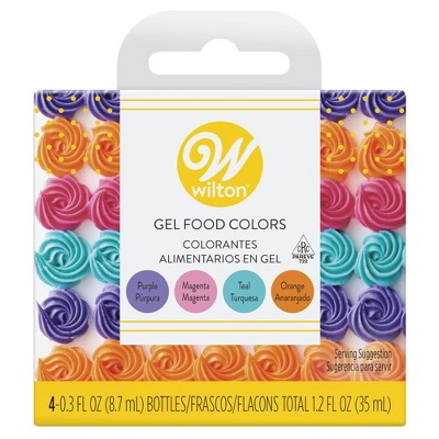 Wilton Neon Gel Food Color Set - 4ct
