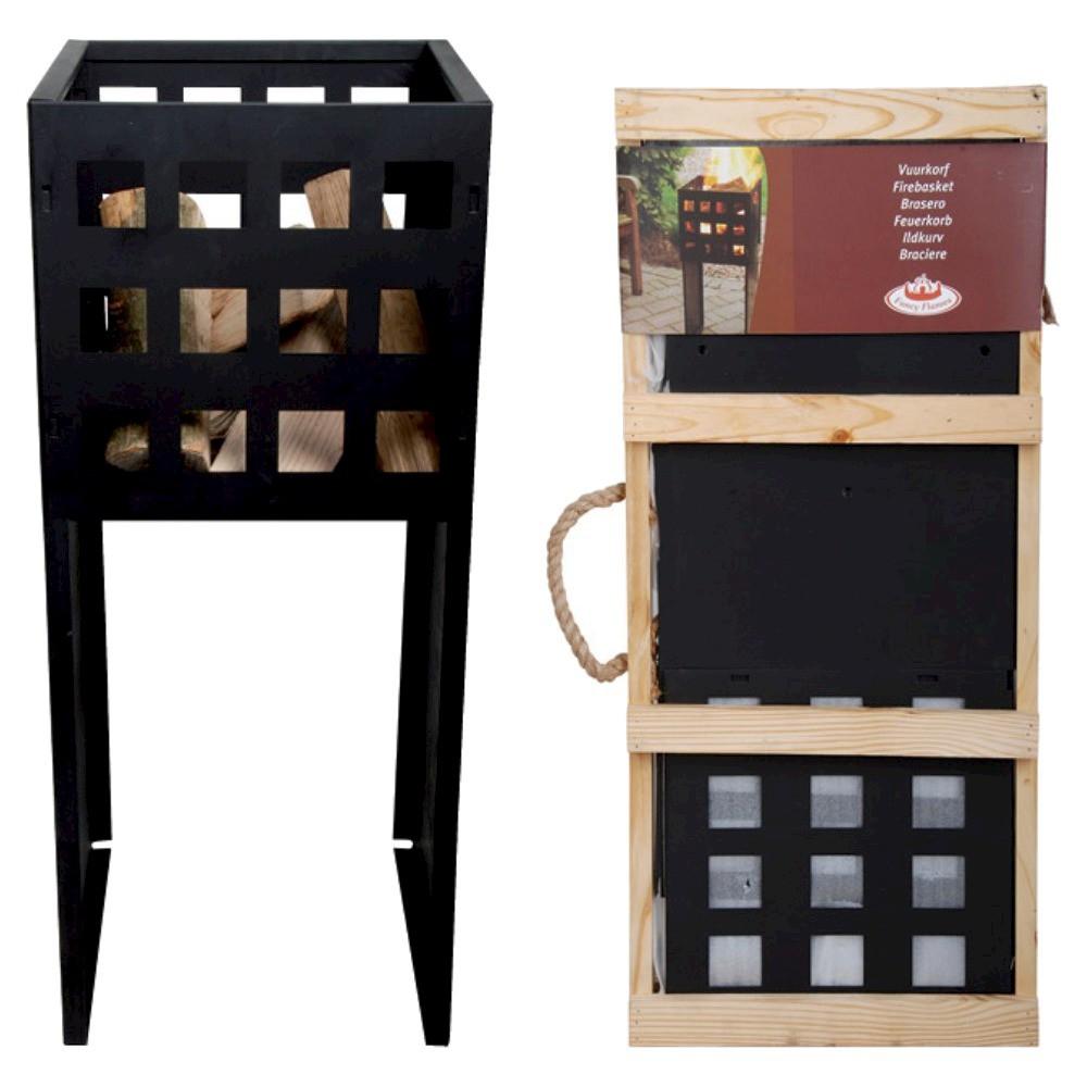 Esschert Design Tall Fire Basket - Black