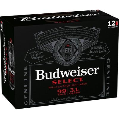 Budweiser Select Full-Flavored Light Lager Beer - 12pk/12 fl oz Cans