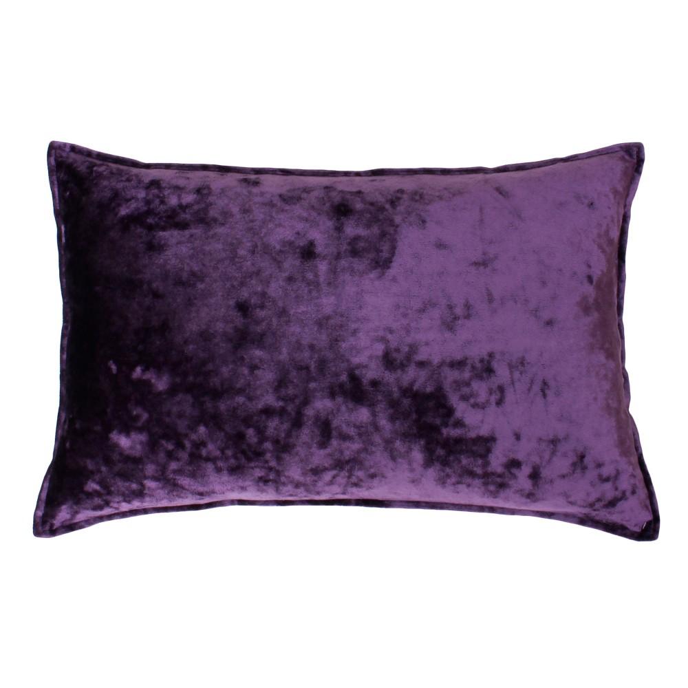 Best Review Ibenz Ice Velvet Lumbar Throw Pillow Purple Dcor Therapy
