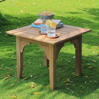 Caterina Teak Patio Side Table - Cambridge Casual