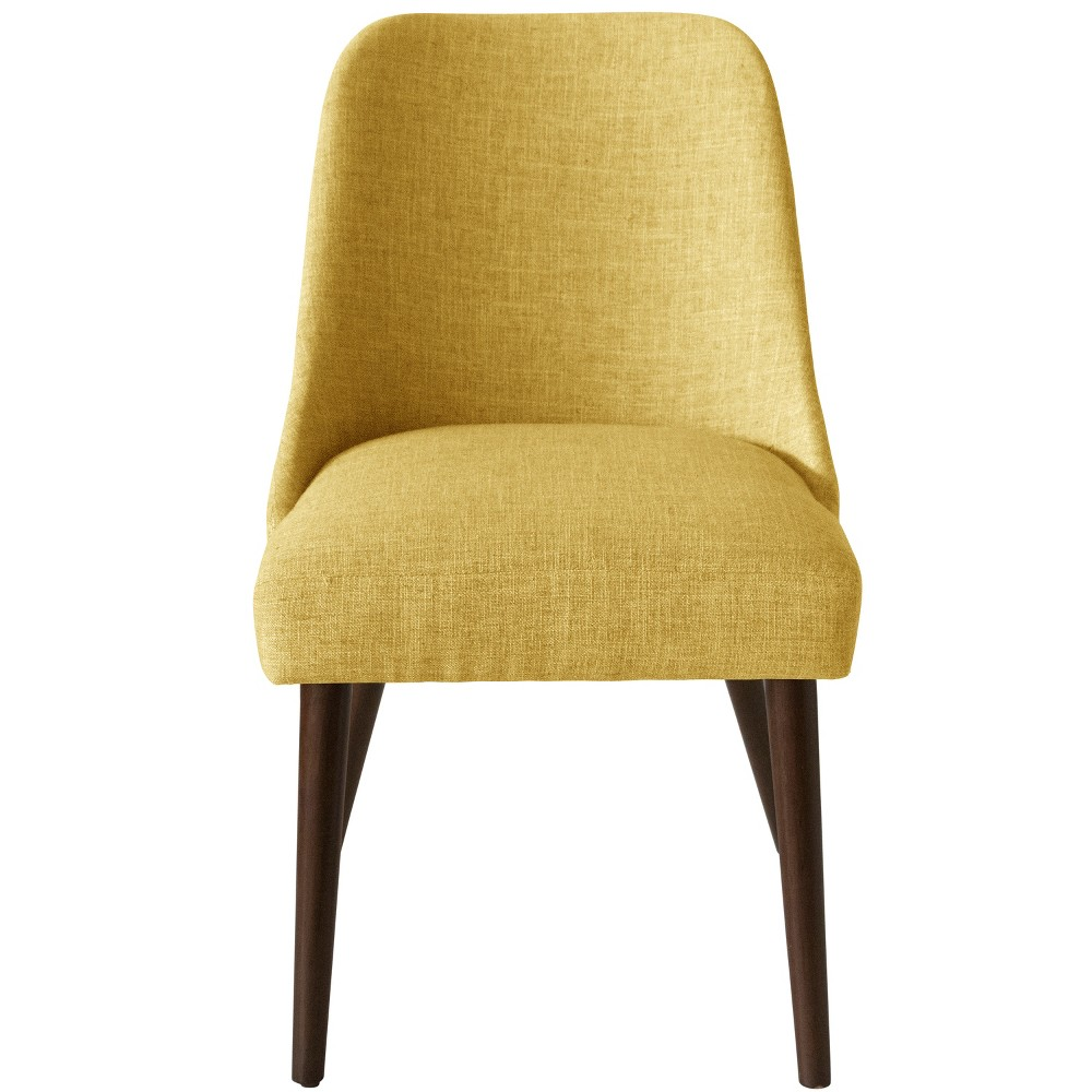 Geller Modern Dining Chair Golden Yellow Linen - Project 62