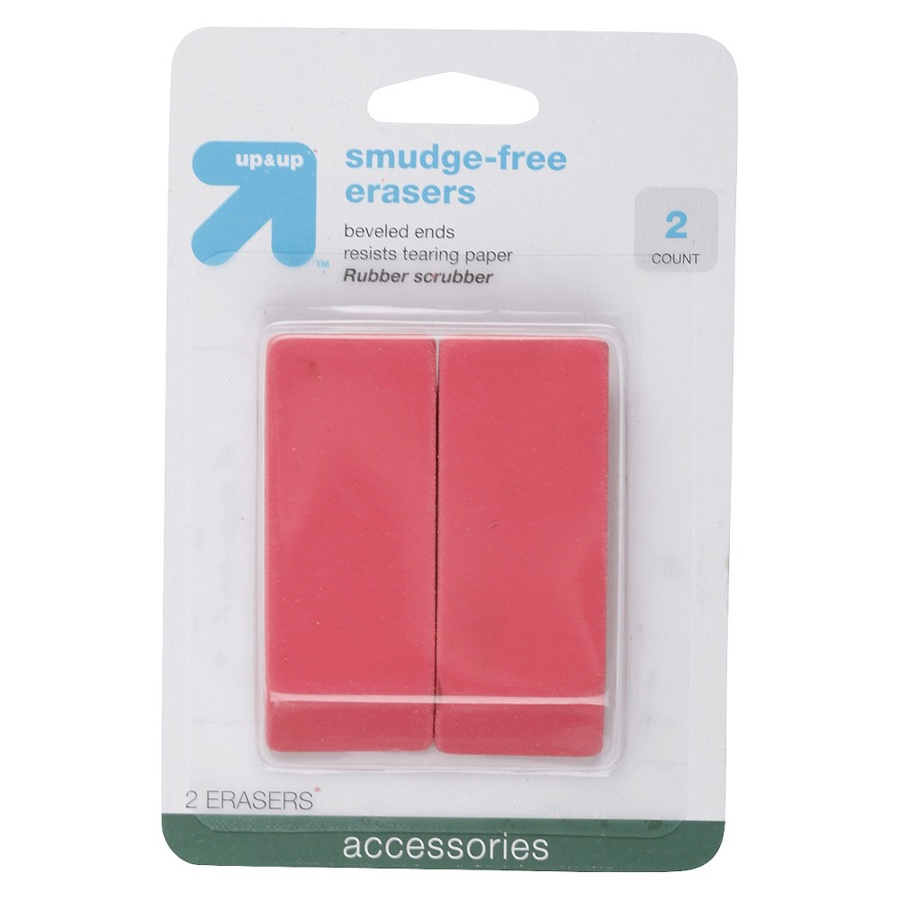 Image of Smudge Free Erasers 2ct - Up&Up