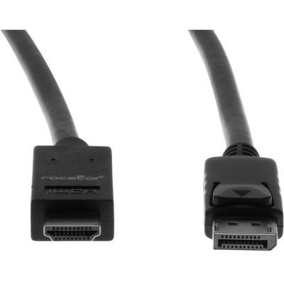 Rocstor Y10C127-B1 Premium DisplayPort to HDMI Converter Cable - 6 ft. - 4K