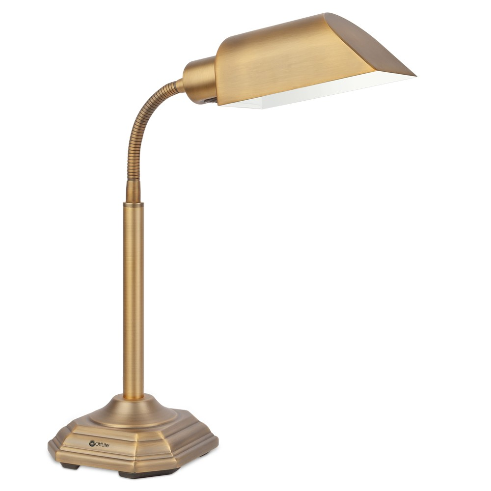 Image of 20 Watt Alexander Table Lamp Brass (Includes Energy Efficient Light Bulb) - OttLite