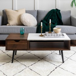Superb Tachuri Geometric Front Coffee Table Brown Opalhouse Target Inzonedesignstudio Interior Chair Design Inzonedesignstudiocom
