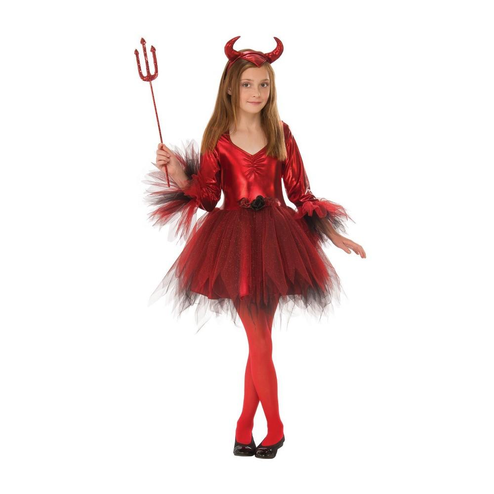 Girls' Classic Devil Halloween Costume L - Rubie's, Multicolored