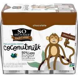 So Delicious Chocolate Coconut Milk Dairy Free - 6ct
