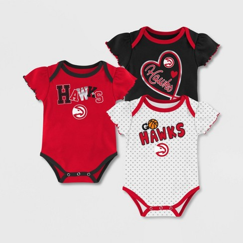 NBA Atlanta Hawks Girls' Draft Pick Body Suit Set 3pk - image 1 of 4