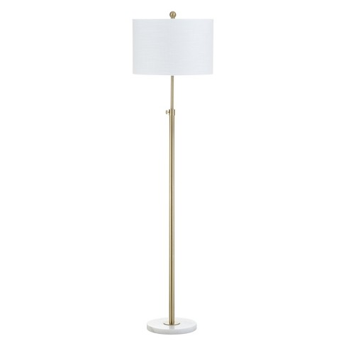 65 June Adjustable Metal Marble Led Floor Lamp Brass Includes