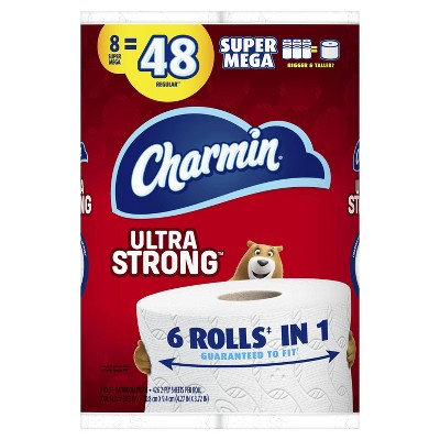 Charmin Ultra Strong Toilet Paper - 8 Super Mega Rolls