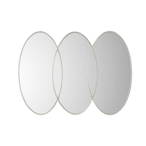 """40"""" x 30"""" Eclipse Decorative Wall Mirror Antique Silver - image 1 of 3"""