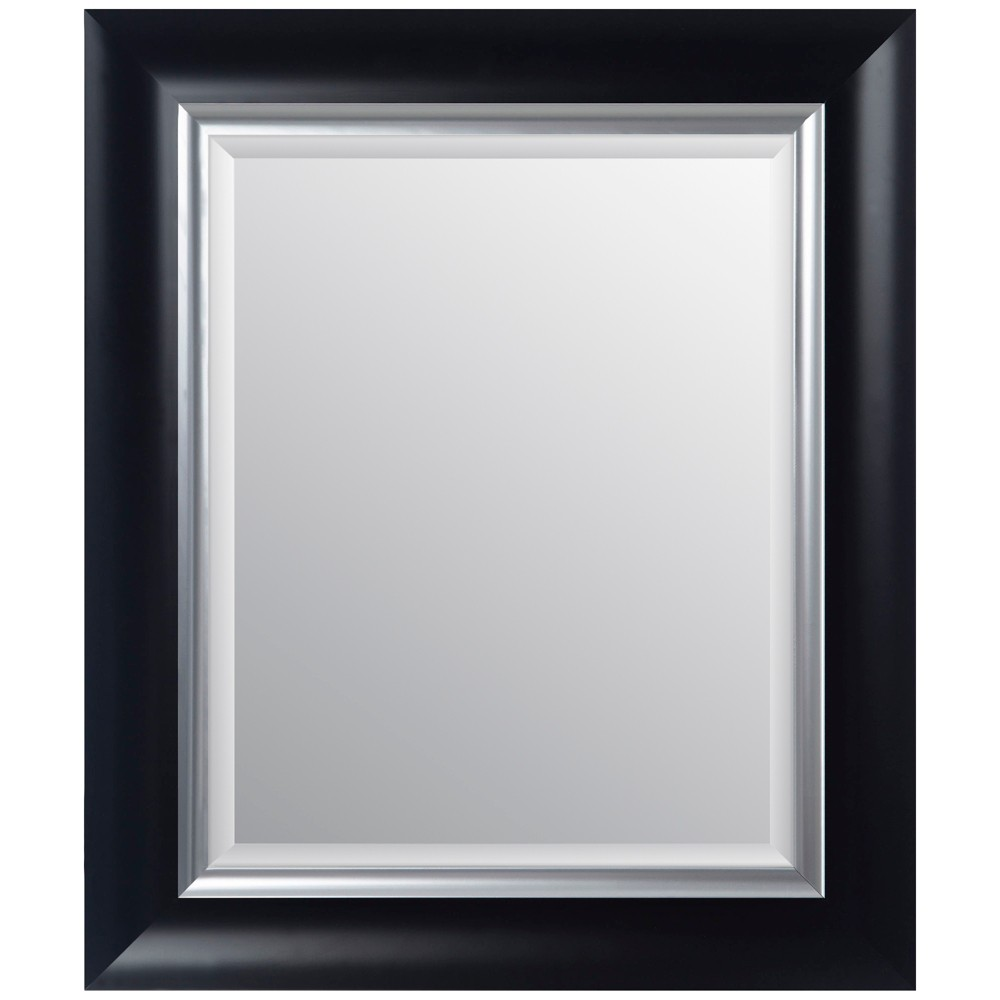 """Image of """"16""""""""x20"""""""" Scoop Framed Wall or Leaner Mirror Black - Gallery Solutions"""""""