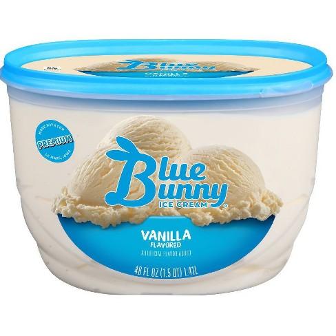 Astonishing Blue Bunny Vanilla Ice Cream 48 Fl Oz Target Funny Birthday Cards Online Aeocydamsfinfo