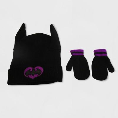 Batgirl Toddler Girls' Hat and Mitten Set