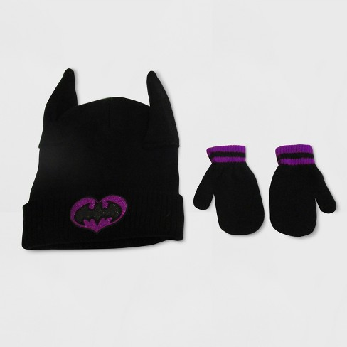 Batgirl Toddler Girls Hat And Mitten Set Target