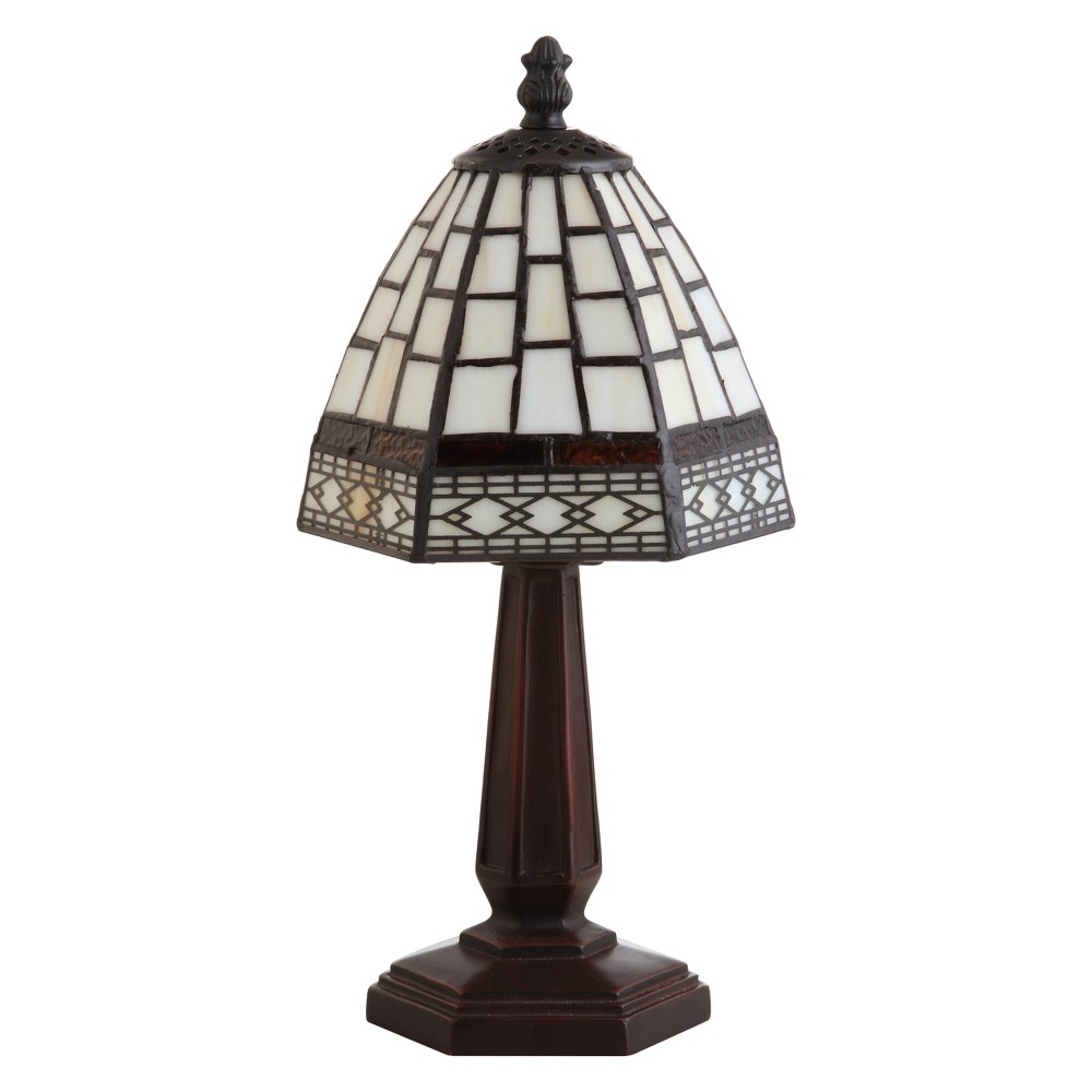 12 Carter Tiffany Style Led Table Lamp Bronze (Includes Energy Efficient Light Bulb) - Jonathan Y