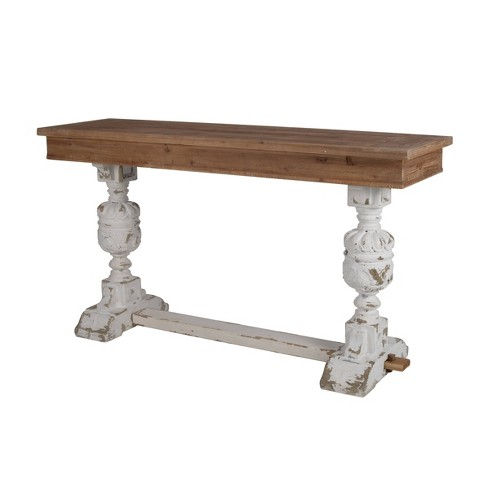Alcott Buffet Table White/Natural - A&B Home - image 1 of 4