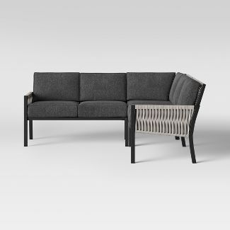 Lunding 3pc Patio Sectional Charcoal - Project 62™