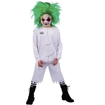 Seeing Red Psych Ward Clown Child Costume