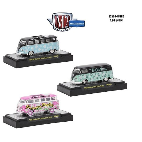 6c91c50692 Auto Thentics 3 Cars Set Volkswagen USA Models WITH CASES 1 64 Diecast Model  Cars By M2 Machines   Target