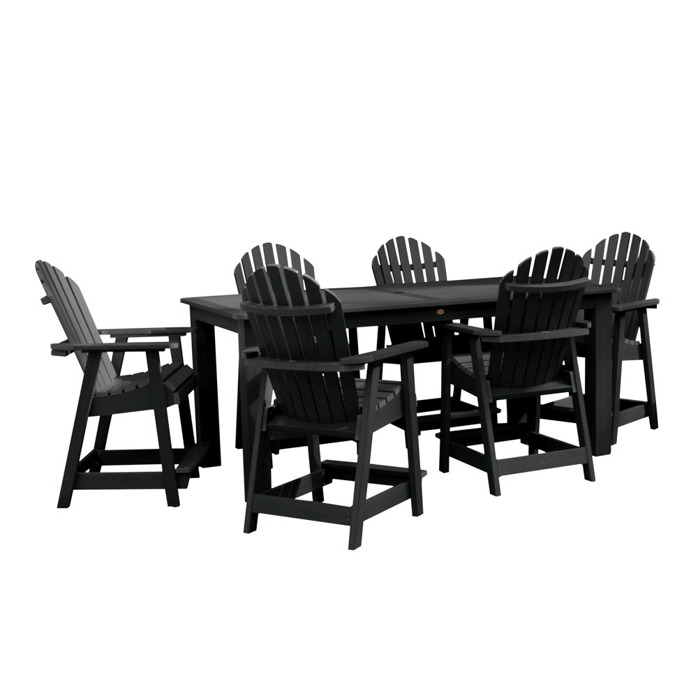"Image of ""Hamilton 7pc Rectangular Counter Height Dining Set 84"""" X 42"""" Black - Highwood"""