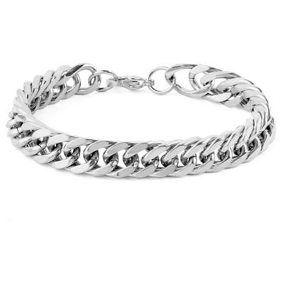 "Men's West Coast Jewelry Stainless Steel Curb Link Chain Bracelet (8"")"