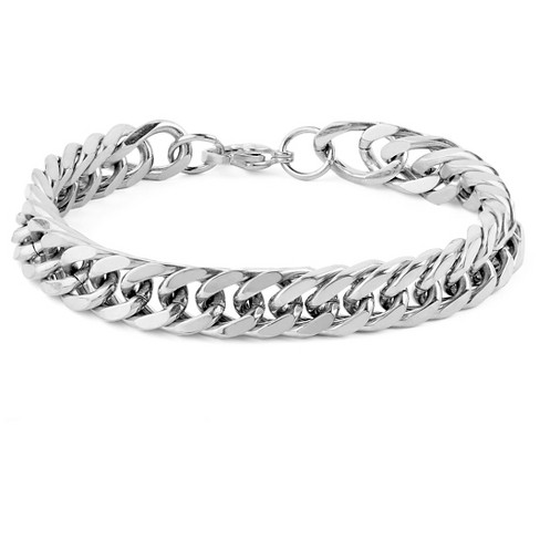 Men S West Coast Jewelry Stainless Steel Curb Link Chain Bracelet 8