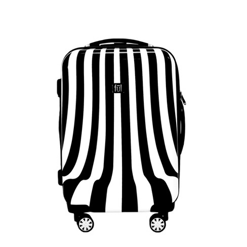 "FUL 20"" Hardside Expandable Spinner Suitcase - Black/White Swirl - image 1 of 5"
