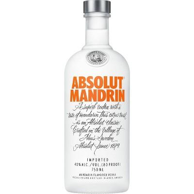 Absolut Mandarin Vodka - 750ml Bottle