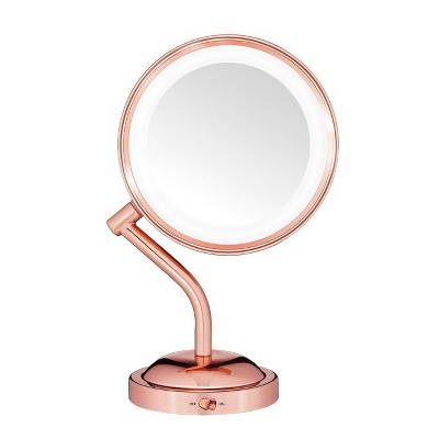 Conair Rose Gold Rotating Mirror - 5x Magnification