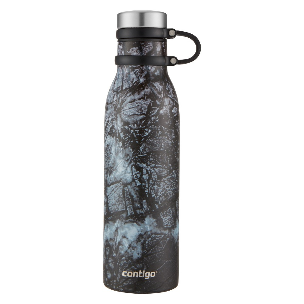 Image of Contigo 20oz Couture Thermalock Vacuum-Insulated Stainless Steel Water Bottle Carbon (Black)