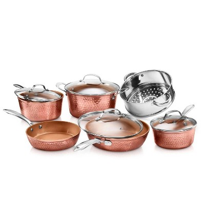 Gotham Steel Hammered Copper 10pc Cookware Set