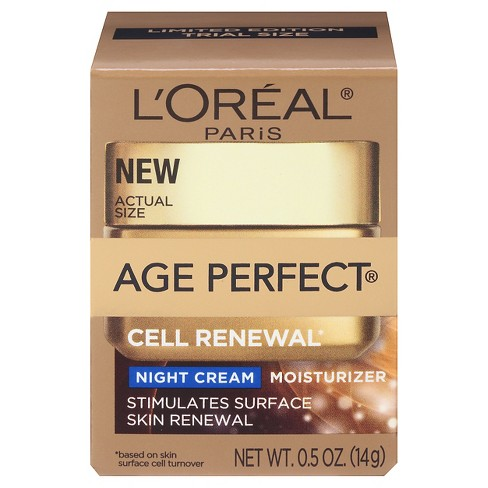 L'Oreal® Paris Age Perfect® Cell Renewal Night Cream SPF 15 .5oz - image 1 of 3