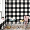 Devine Color Buffalo Plaid Peel And Stick Wallpaper Black/Ivory - image 3 of 4