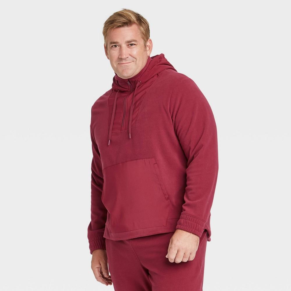 Men 39 S Big 38 Tall Fleece Pullover Sweatshirt All In Motion 8482 Dark Red Xxxl